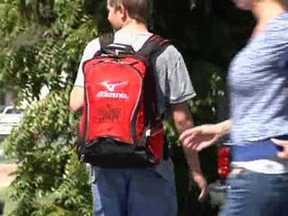 Backpack and supply giveaway in Lamont