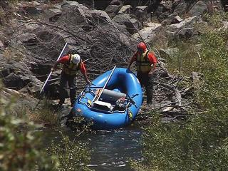One person rescued, one missing in Kern River