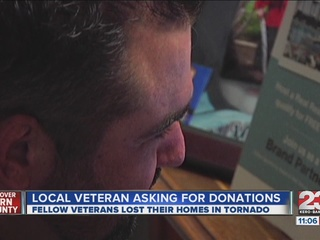 War veteran helping tornado survivors
