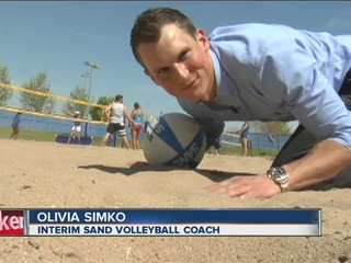 Closer look at CSUB's new sand volleyball courts