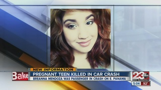 Pregnant teen killed in car crash Thursday