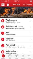 Fire season preparedness: Red Cross Wildfire App