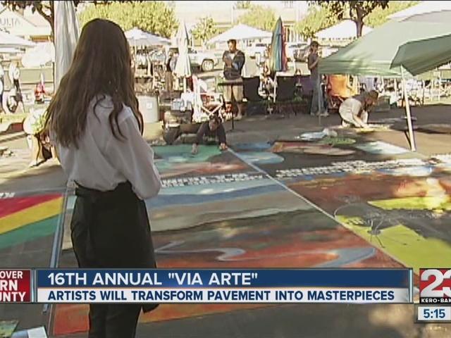 16th Annual Via Arte Chalk Painting Festival