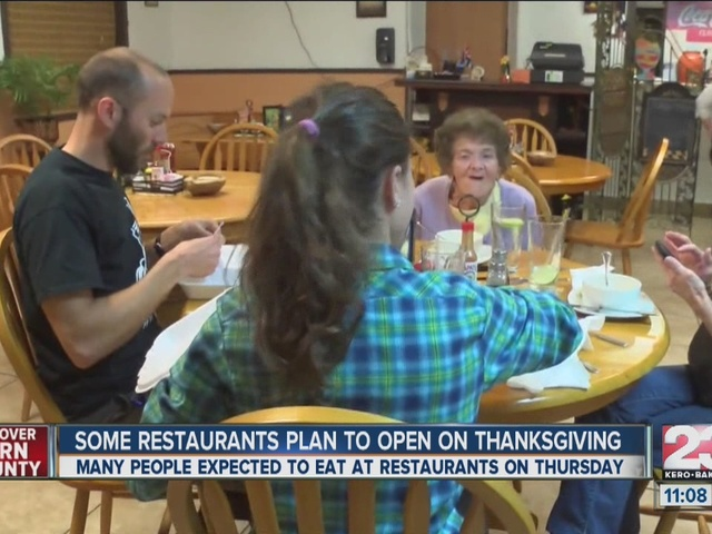 Some restaurants plan to open on thanksgiving 23abc news for What restaurants are open on thanksgiving