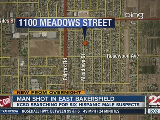 Shooting on Meadows Street in East Bakersfield