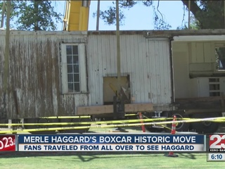 Merle's boxcar moved one year ago