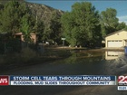 Storm cell brings mud & flooding to mountains