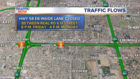 Expect possible delays on Hwy 58 this weekend