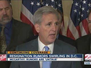 Will Kevin McCarthy resign from House Leader?