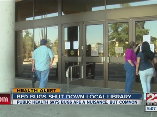 Beale Memorial Library shutdown over bed bugs