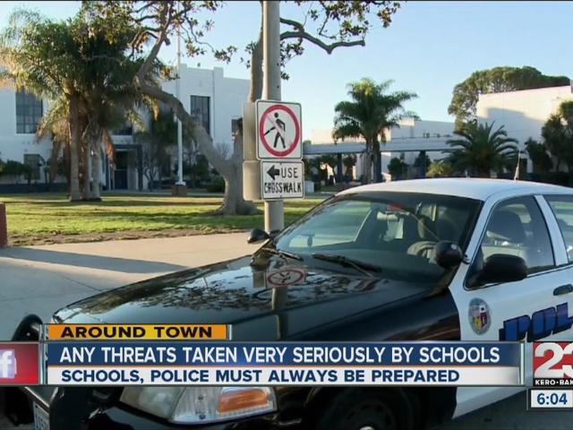 School, law officials prep after LA threat