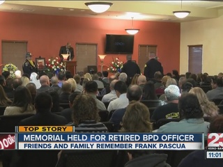 Retired BPD officer's life celebrated by many