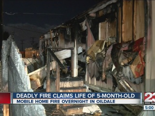 5-month-old baby dies in mobile home fire