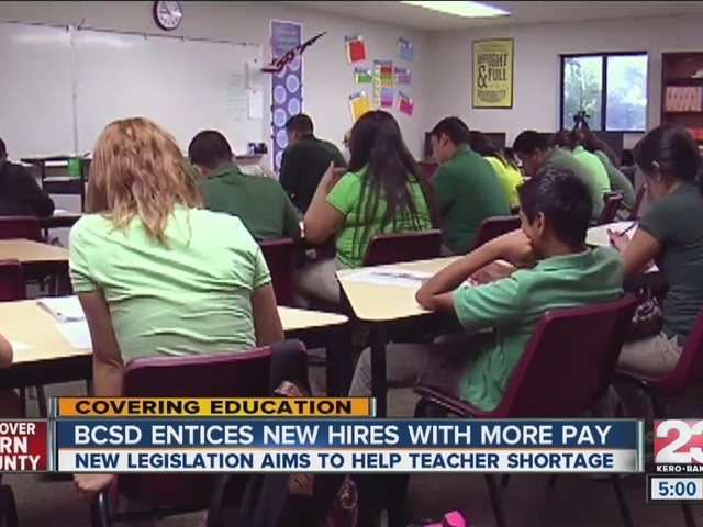 Bakersfield City School District removed pay cap for new hires