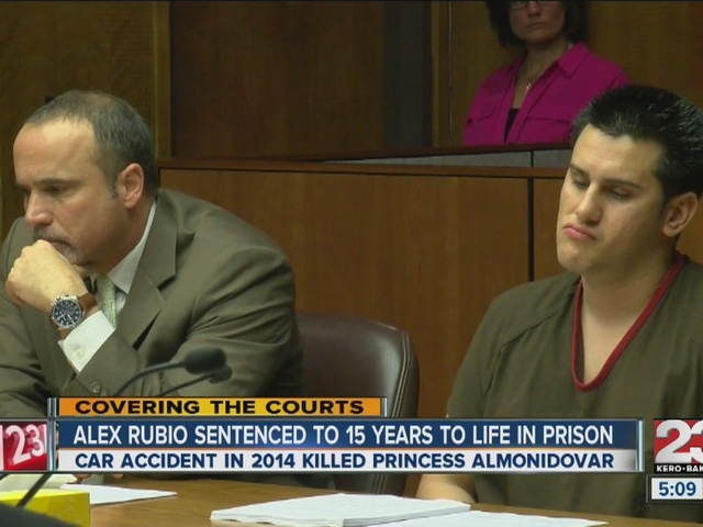Alex Rubio sentenced to 15 years to life in prison for fatal crash
