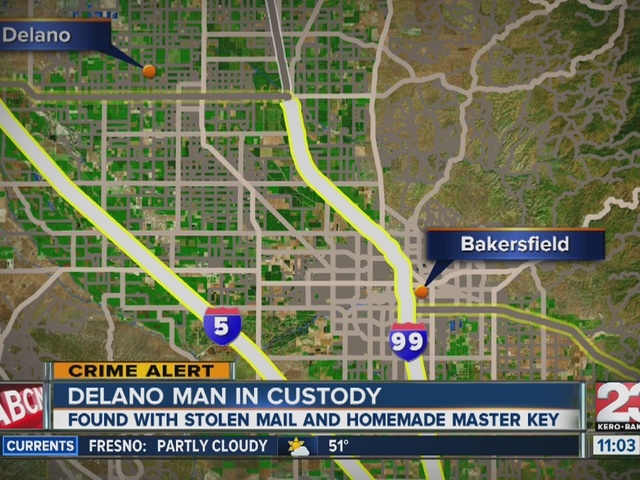 Delano man in custody