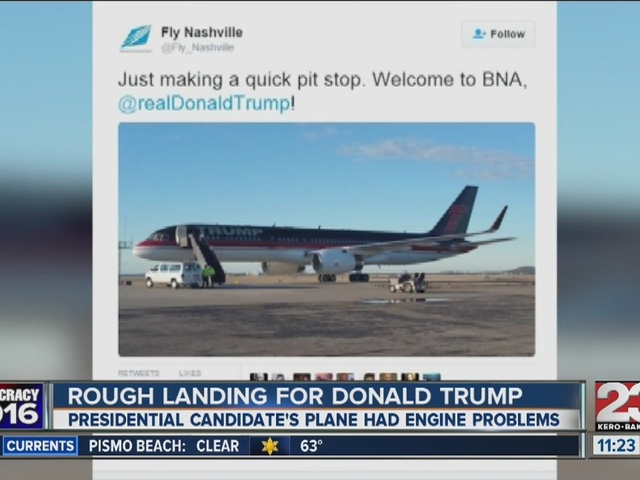 Trump plane makes emergency landing In Nashville