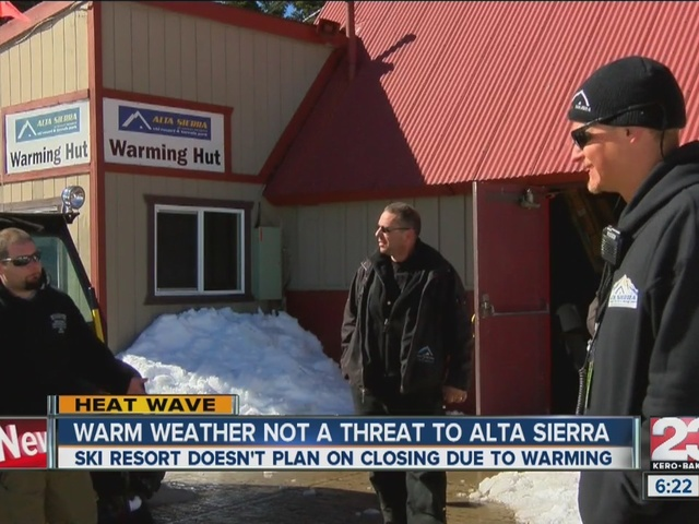 Alta Sierra not worried about warm weather