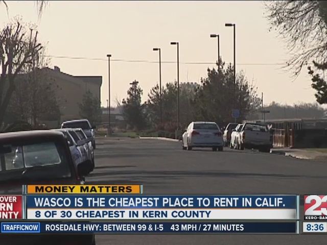 Wasco is the cheapest place to rent in CA