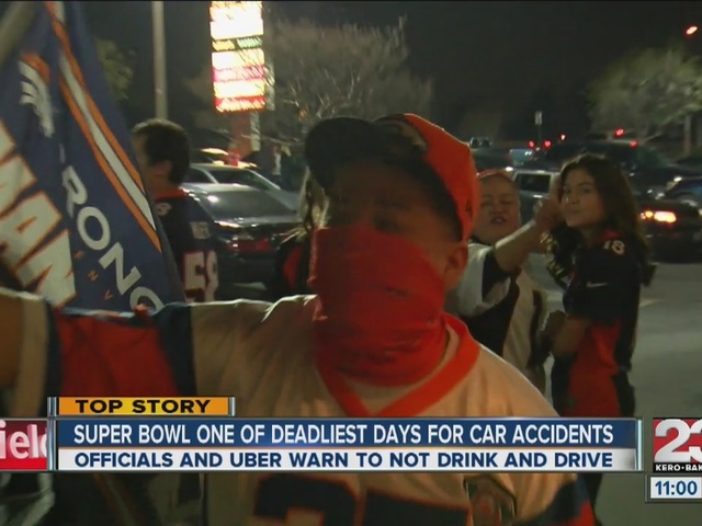Super Bowl Sunday one of the deadliest nights of the year for car accidents