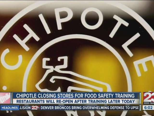 Chipotle stores opening late