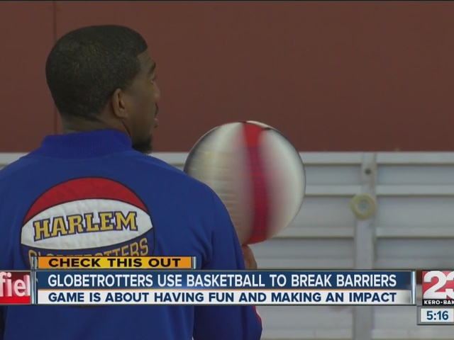 Harlem Globetrotters use basketball to break barriers