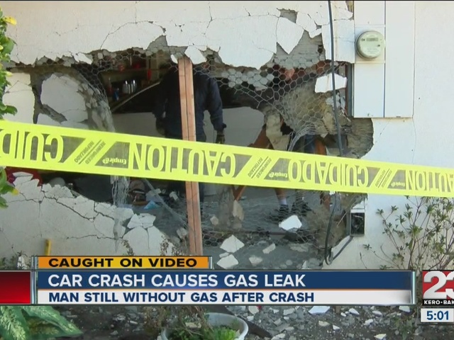 Man still without gas after crash