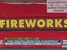 Restrictions on fireworks could be on the way