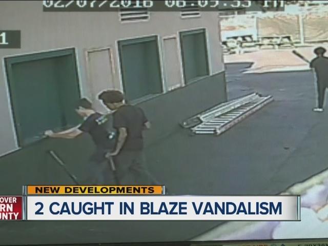 2 suspects caught in Bakersfield Blaze vandalism