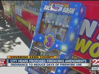 City hears proposed changes on fireworks laws