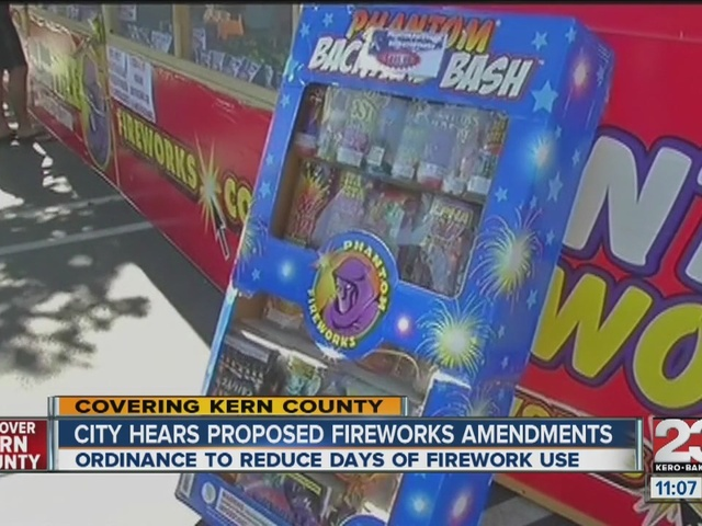 City hears proposed changes on fireworks ordinance
