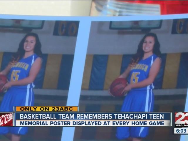 Tehachapi basketball team remembers teen killed in hit and run