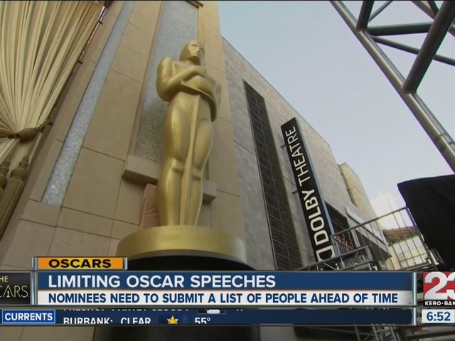 Limiting Oscar speeches