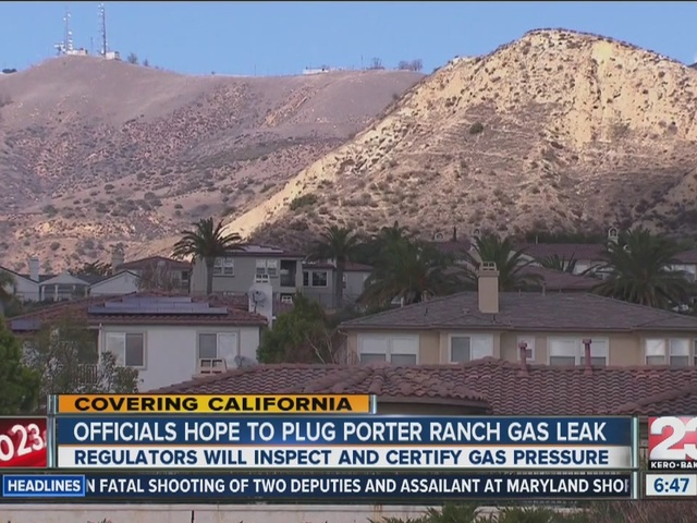 Officials hope to plug porter ranch gas leak