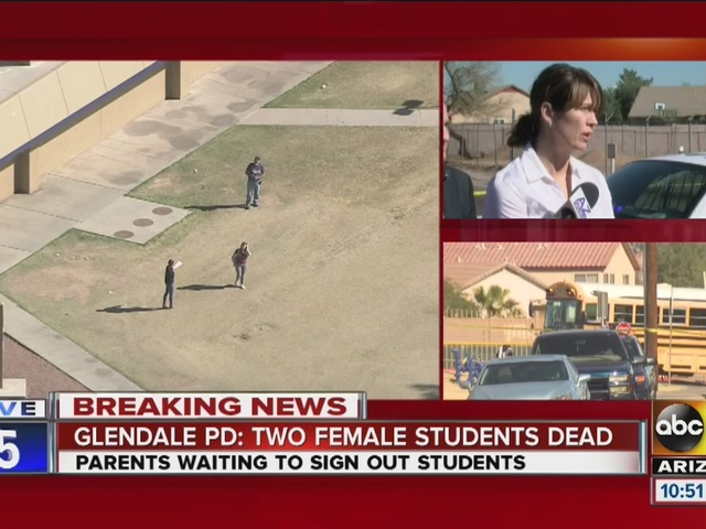 Glendale, Arizona PD: Two female students shot, killed at a high school