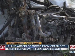 Tulare plane wreckage moved from crash site