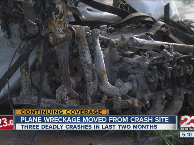Plane wreckage moved, latest crash in busy two months