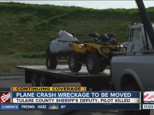 Plane wreckage moved from crash site near Springville