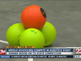 Middle schoolers compete in robotics event