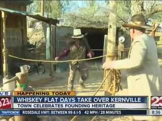 Whiskey Flat encampment pops us in Kernville