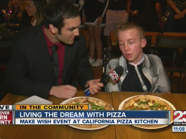 Zach Wargo Creates Pizza As Part Of Make A Wish And California Pizza Kitchen Partnership