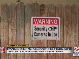 Southwest neighborhood fed up with thefts