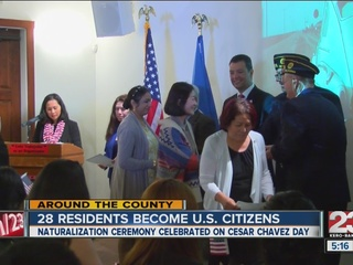 28 citizens get naturalized on Cesar Chavez Day