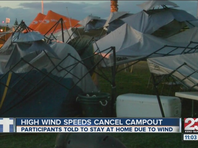 Dangerous winds cancel Relay for Life campout