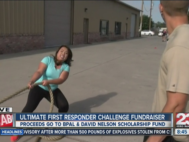 Ultimate first responder challenge: Pulling a police car!
