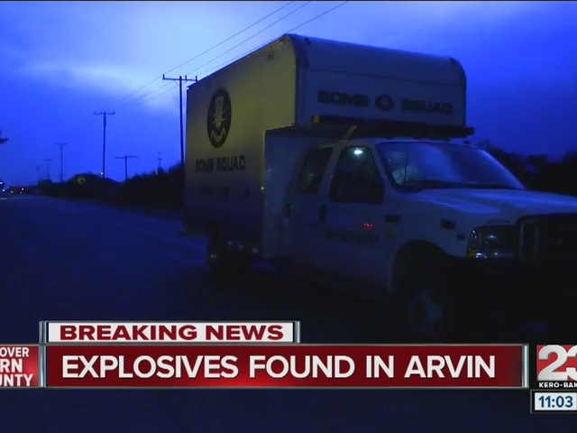 Explosive materials found in Arvin home