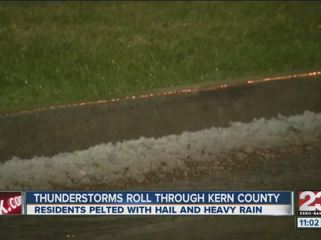 Hail storm blows through Bakersfield