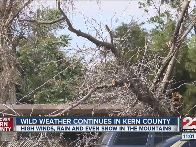 Wild weather hits Kern County
