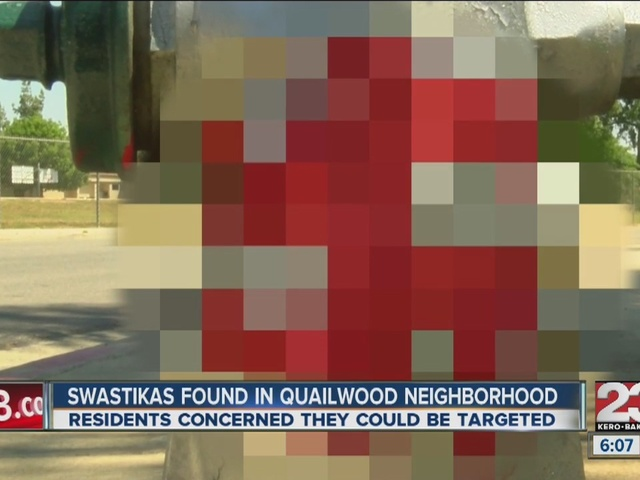 SW Bakersfield apartment complex vandalized with red swastikas