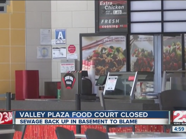 Valley Plaza food court closed due to sewage problem